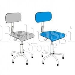 Krzesło z siedziskiem plastikowym z regulacją wysokości, z amortyzatorem gazowym (II/S/1)