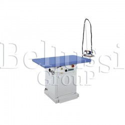 MP/F rectangular ironing table with rotodynamic pump and for connecting 2 irons