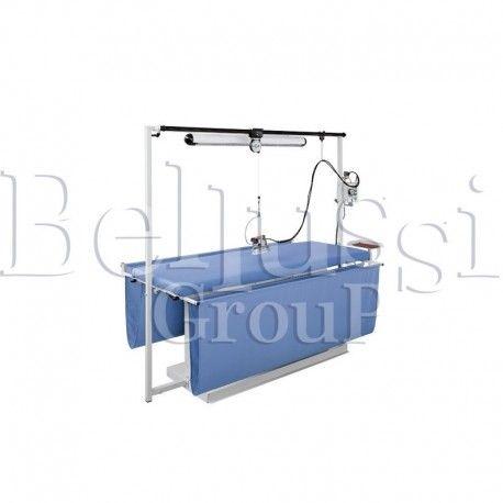 Stół prasowalniczy prostokątny do zasłon MP/F/T 300x100 (zdjęcie przedstawia urządzenie wraz z akcesoriami sprzedawanymi osobno)
