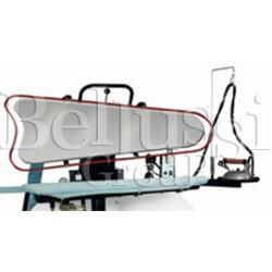 Prasa manualna ST-702/UPL z płytą uniwersalną do spodni z polerowaną i niklowana płytą górną