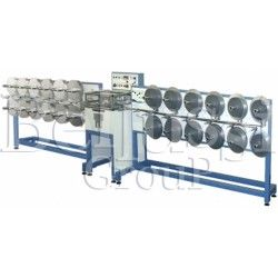 Automatic perforating machine for non woven ribbons.