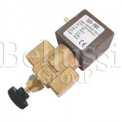 Trough solenoid valve