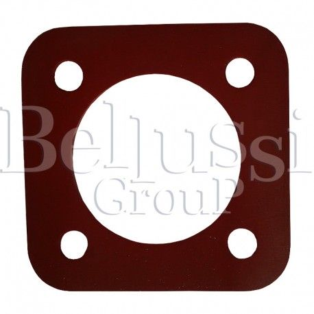 Square silicone gasket with 4 holes