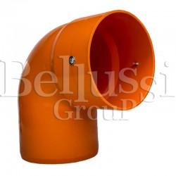 Pomarańczowe kolanko PCV 90° stołów MP/F/PV