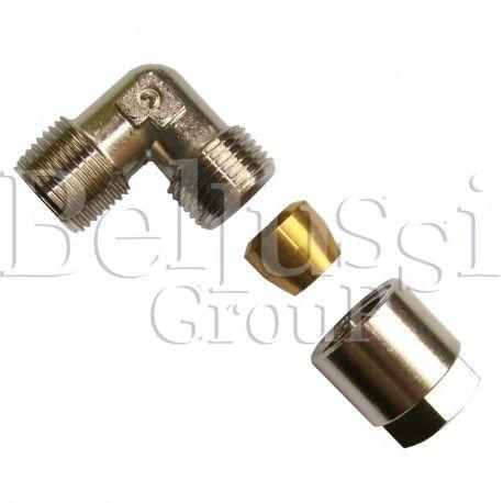 "Elbow 3/8"" (external thread) x 3/8"" (external thread) for 10 mm glass tube in Pratika steam generator"