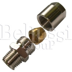 "Nipple 1/4"" (external thread) with clamp barrel for 6 mm glass tube"