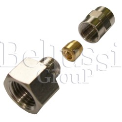 """Nipple 1/4"""" (external thread) with clamp barrel for 6 mm glass tube in steam generators and ironing tables"""