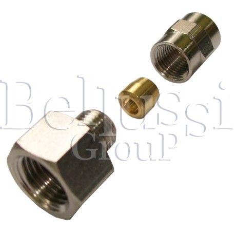 Nypel 1/4 GZ z baryłką zaciskową na rurkę 6 mm do wytwornic i stołów