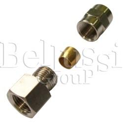 Nypel 1/8 GZ z baryłką zaciskową na rurkę 6 mm