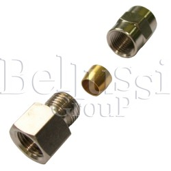 """Nipple 1/8"""" (external thread) with clamp barrel for 6 mm glass tube"""
