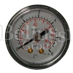Small manometer 6 bar 1/8'' (external thread) for steam generators and ironing tables