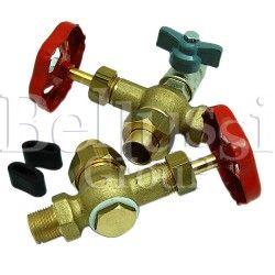 Shut-of valves of glass tube in FB/F steam generator