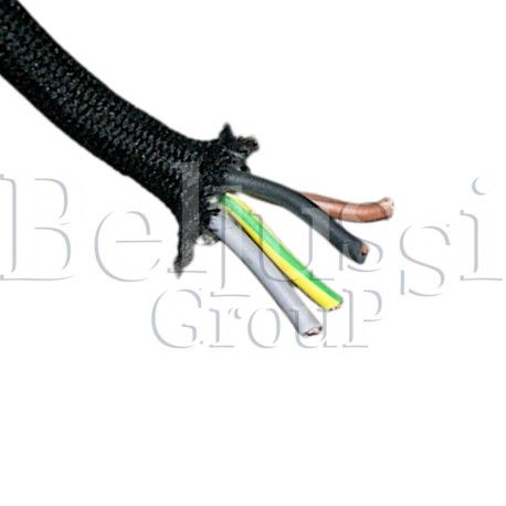 Electrical cable 4x1 mm2 in cotton braid for Comel irons and other