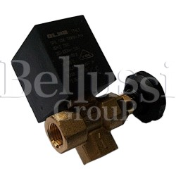 Angle small solenoid valve 1/4 with regulation and knob