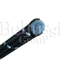 Steam silicone cable with one braid for irons