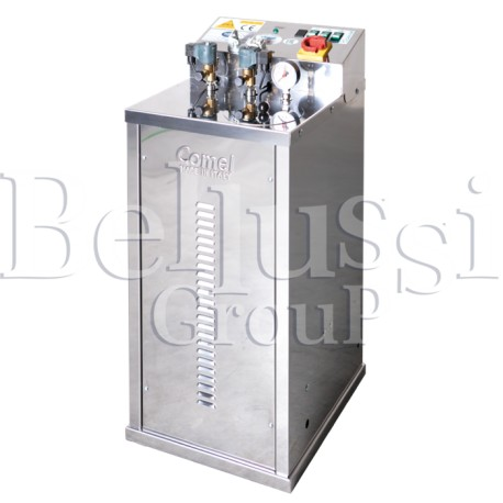 FB/F 7L 4KW INOX steam generator with rotational pump and connection to the second iron