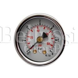 Manometr mały 6 bar 1/8 GZ do wytwornic pary i stołów prasowalniczych