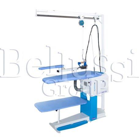 Stół prasowalniczy z regulacją wysokości BR/A SXD (zdjęcie przedstawia urządzenie wraz z akcesoriami sprzedawanymi osobno)