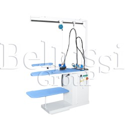 FR/F universal ironing table with pump and for connecting 2 irons