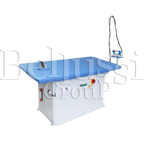 Stół prasowalniczy do stabilizacji dzianin MP/F/PV 180x90 (zdjęcie przedstawia urządzenie wraz z akcesoriami sprzedawanymi osobn