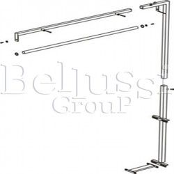 Handle for sling and lamp for ironing tables: MP/F, MP/A, MP/FC/A i MP/FC.
