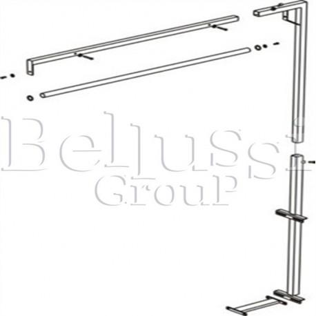 Ramię do podwieszenia żelazka bez lampy i zawiesia do stołów MP/A, MP/F, MP/FC/A, MP/FC