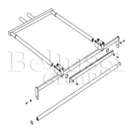 Ramię do podwieszenia żelazka ( część górna ) bez lampy i zawiesia do stołów MP/A-S, MP/A-RS, MP/A-R (II/T/2)